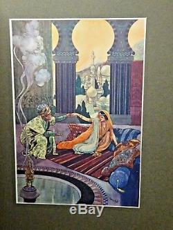 1912 The Arabian Nights RENE BULL Ex Rare Edition! 20 COLOUR PLATES Antique Book
