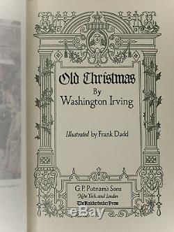 1916 Old Christmas Washington Irving Rare Antique Illustrated Ghost Tale England