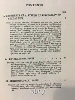 1924 RARE Psychopathia Sexualis Antique Medico Forensic Study Psychiatric Book