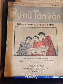 1930's Very Rare Vietnamese Antique Magazine Phu Nu Tan Van First Women