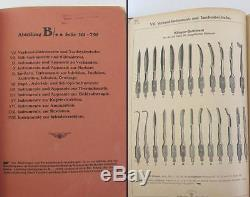 19C. ANTIQUE MEDICAL & SURGICAL INSTRUMENTS CATALOG BOOK AESCULAP 2850 page RARE
