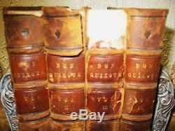 1st Edition thus DON QUIXOTE Miguel Cervantes SET 4V ANTIQUE 1854 Classic RARE