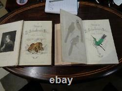 2 rare antique leather bound books by goldsmith