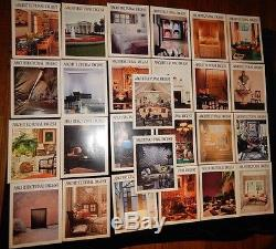 26 Issues New Rare Architectural Digest Magazine's Vintage 1979-1983 Must See