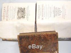 5 Vol. Antique Rare Books 1759 Deuvres De Monte Monsieur de Montesquieu Works