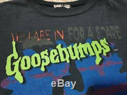 90s RARE Goosebumps Stine Book Cult Horror Double Sided Vintage T-Shirt M