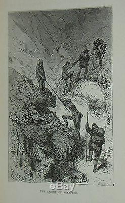 A Journey To The Centre Of The Earth, by Jules Verne, 1874 Rare Antique Book