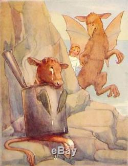 ALICE IN WONDERLAND Antique COLOR EDITION Alice's RARE Adventures LEWIS CARROLL