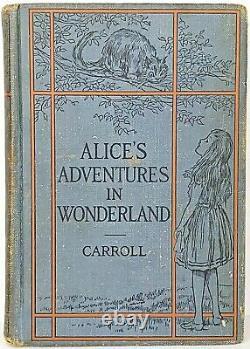 ALICE IN WONDERLAND Antique FIRST EDITION Alice's RARE Adventures LEWIS CARROLL