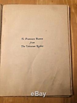ANTIQUE Doran C 1930 THE VELVETEEN RABBIT Margery Williams RARE HC DOUBLEDAY