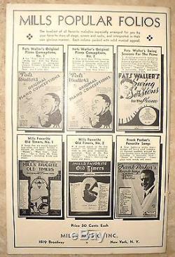 ANTIQUE RARE 1938 MAJOR LEAGUE BASEBALL THEME SONG BOOK BATTER UP w PHOTOS