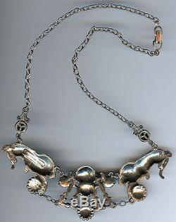 Alexander Korda Rare Vintage Lions & Turban Man Jungle Book Collection Necklace