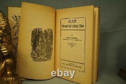 Alice Through the Looking Glass rare antique old children's book In wonderland