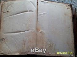 Antique 1798 BASEL BIBLE Folio Leather German Martin Luther Version Rare