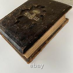 Antique 1800's Victorian Holy Bible Rare