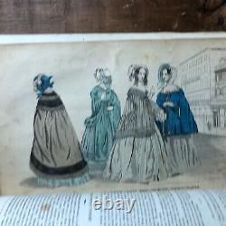 Antique 1854 1843 Godey's Lady's Books RARE ILLUSTRATED FASHION VICTORIAN