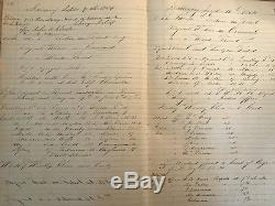 Antique 1864 CIVIL War Era New York City Police Blotter Log Book Nypd Cops Rare
