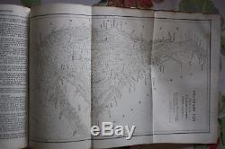 Antique 1884 American Coast Pilot Edmund Blunt Very Rare Nautical Book