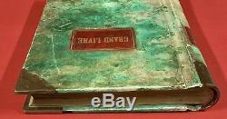 Antique 1890 Large French Restaurant Ledger Book Grand Livre Paris France Rare