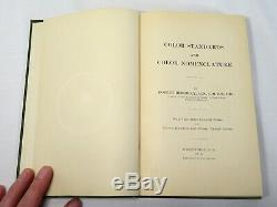 Antique 1912 RIDGWAY COLOR STANDARDS and NOMENCLATURE BOOK With COLOR PLATES Rare