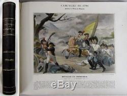 Antique ALBUM MILITAIRE Napoleonic Wars 156 COLOR PLATES French Revolution RARE