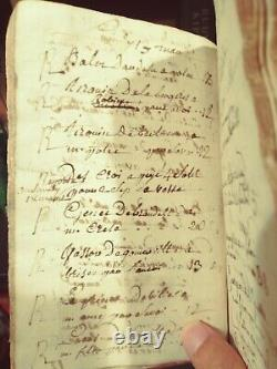 Antique Book Rare 250 year old LEDGER, commerce manuscript from 1769