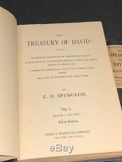 Antique C. H. Spurgeon 7 Vol. Set The Treasury Of David Hc Edition Rare