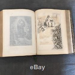 Antique Catholic Rare Victorian Holy Bible, Circa 1860's, John E. Potter & Co