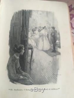 Antique Jane Eyre Book Charlotte Bronte Engravings RARE EDITION