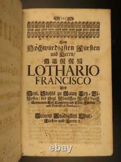 Antique Jesuit Bible Sermons of German Konrad Purselt 1699 Rare Huge Folio