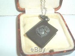 Antique Jet C1880 Rare Book Pendant Opening Locket Goth Mourning