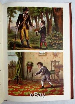 Antique McLOUGHLIN BROS Victorian Children's FAVORITE COLORED PICTURE BOOK Rare