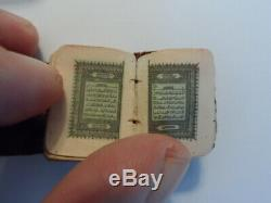 Antique Ottoman Very Rare Old Lithography Miniature Koran Quran Islamic