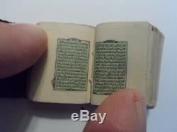 Antique Ottoman Very Rare Old Lithography Miniature Koran Quran Islamic Bb