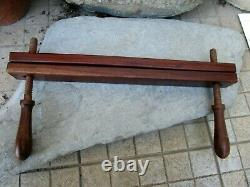 Antique Primitive Museum Rare Wooden Handmade Old Book Press Binding Clamp Vise