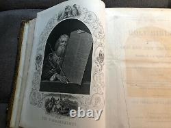 Antique Rare 1000 Illustrations Holy Bible, Circa 1860's, John E. Potter & Co