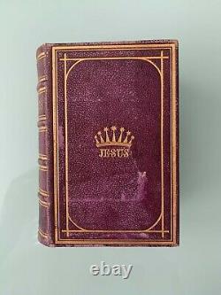 Antique Rare 1862 The Crown of Jesus, Roman Catholic Manual