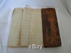 Antique Rare 18th C Nouvel Atlas World Pocket Colored Map Book Amsterdam by Leth