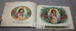 Antique Rare Christmas New Years Cigar Sample Book Schmidt & Co. Circa 1890's