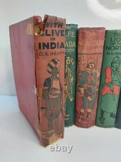Antique Rare G. A. Henty Books Lot of 11 Hardcover Collectible
