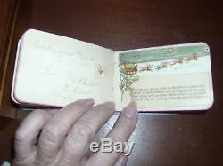 Antique Santa Autograph Book 1886 RARE EUC Night Before Christmas