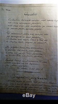 Antique Svetelka Slovenia 1917 WW 1 War Diary Book Rare Soldiers Army