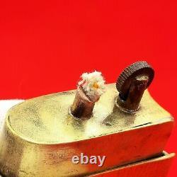 Antique Trench Art Petrol Lighter Ww1 Poilus Book Militaria Rare