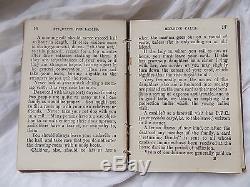 Antique VICTORIAN very rare miniature book Etiquette for Ladies