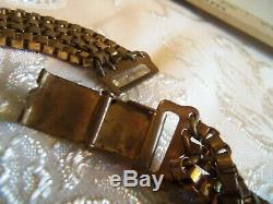 Antique Victorian Layered Solid Brass Book Chain Necklace Beautiful rare