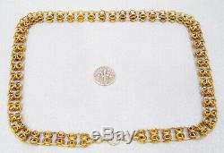 Antique Victorian RARE Gold Filled Ornate Fancy Link Book Chain Necklace SALE