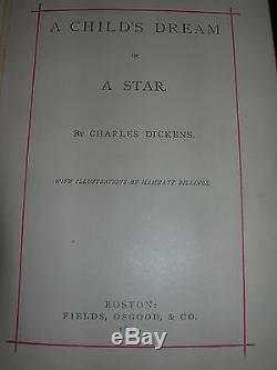 Antique Vintage Rare First Edition 1871 A Childs Dream of A Star Charles Dickens