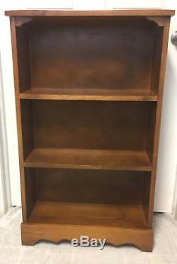 Antique Vintage SALEM American Maple Wood Book Shelf, Open Bookcase Rare