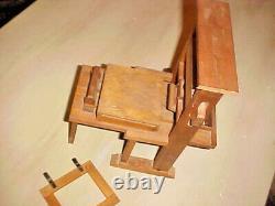 Antique Wood Salesman's Sample Manual Paper or Book Press Machine-RARE