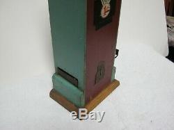 Antique Wooden 1 Cent 2 Book Matches Machine, Found In Old Estate, Rare, Working